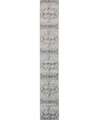 Politan Pol8 Light Gray 2' x 13' Runner Area Rug