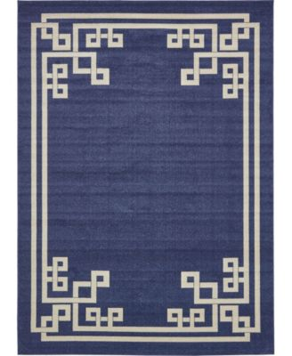 Anzu Anz3 Navy Blue 9' x 12' Area Rug