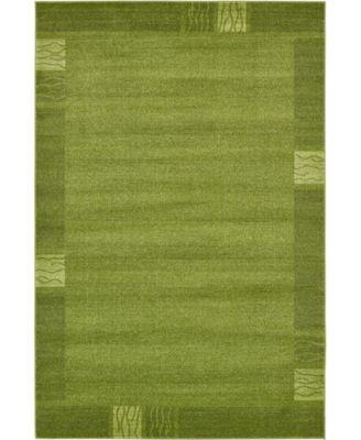 Lyon Lyo1 Green 6' x 9' Area Rug