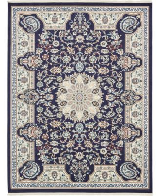 Zara Zar5 Navy Blue 8' x 10' Area Rug