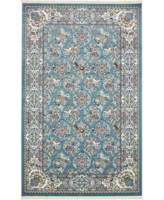 Zara Zar6 Blue 5' x 8' Area Rug