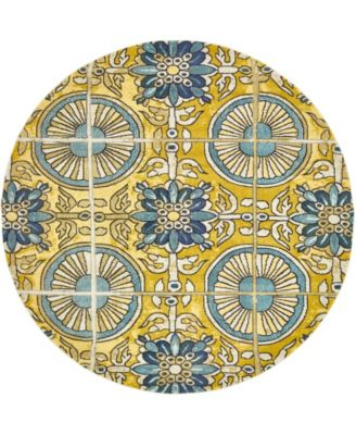 Newwolf New5 Gold 8' x 8' Round Area Rug