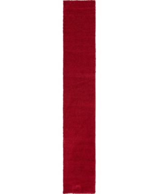 """Uno Uno1 Red 2' 2"""" x 13' Runner Area Rug"""
