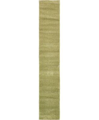 "Uno Uno1 Light Green 2' 2"" x 13' Runner Area Rug"