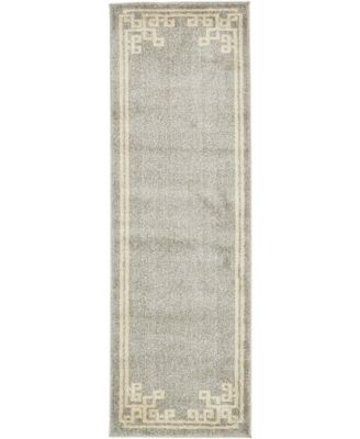 Anzu Anz3 Gray 2' x 6' Runner Area Rug