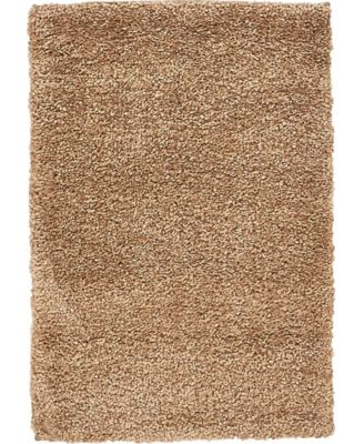 "Uno Uno1 Light Brown 2' 2"" x 3' Area Rug"