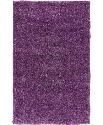 """Uno Uno1 Violet 3' 3"""" x 5' 3"""" Area Rug"""