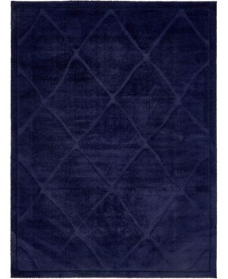Filigree Shag Fil1 Navy Blue 9' x 12' Area Rug