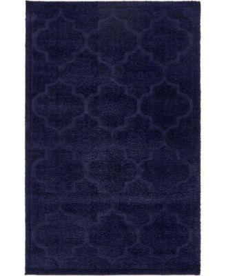 Filigree Shag Fil2 Navy Blue 5' x 8' Area Rug