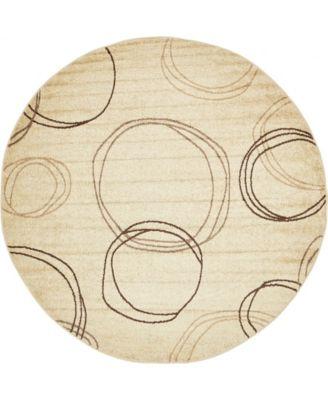 Jasia Jas05 Beige 8' x 8' Round Area Rug