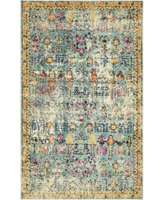 Newhedge Nhg6 Blue 5' x 8' Area Rug