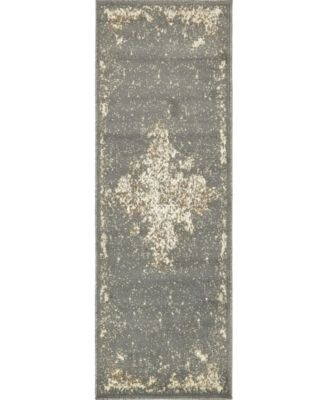 Tabert Tab7 Gray 2' x 6' Runner Area Rug