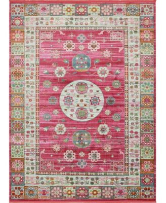 Kenna Ken2 Pink 10' x 13' Area Rug