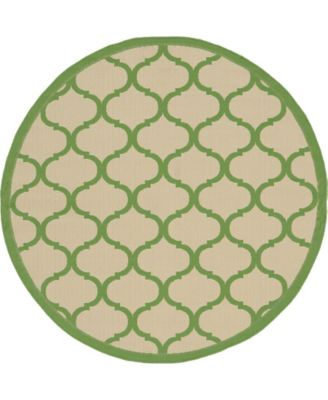 Pashio Pas5 Green 6' x 6' Round Area Rug