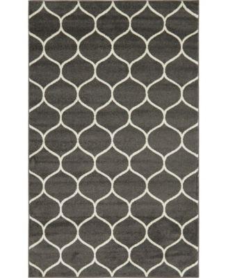 Plexity Plx2 Dark Gray 5' x 8' Area Rug