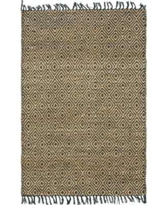 Braided Tones Brt3 Natural/Black 4' x 6' Area Rug