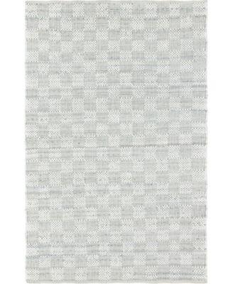 Jari Checkered Jar2 Ivory 6' x 9' Area Rug