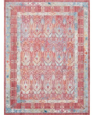 Zilla Zil2 Red 9' x 12' Area Rug