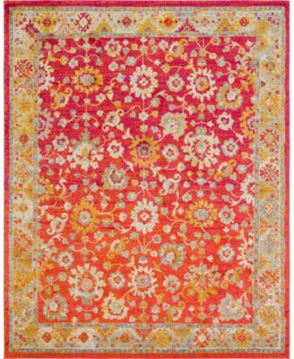 Lorem Lor3 Red 8' x 10' Area Rug