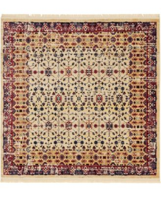 Borough Bor2 Beige 8' x 8' Square Area Rug