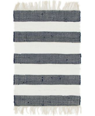 Jari Jar5 Navy Blue 2' x 3' Area Rug