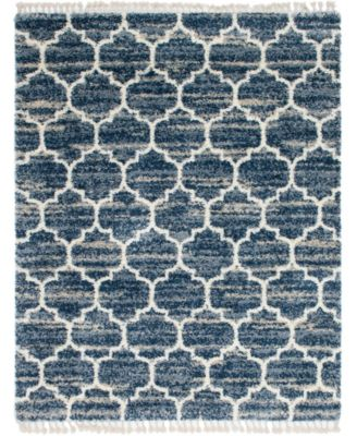 Lochcort Shag Loc1 Blue 8' x 10' Area Rug