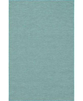 """Pashio Pas8 Turquoise 5' 3"""" x 8' Area Rug"""
