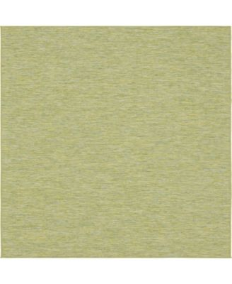 "Pashio Pas8 Green 10' 2"" x 10' 3"" Square Area Rug"
