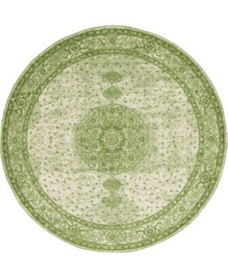 Mobley Mob1 Green 8' x 8' Round Area Rug