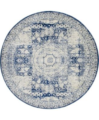 Mobley Mob2 Blue 8' x 8' Round Area Rug