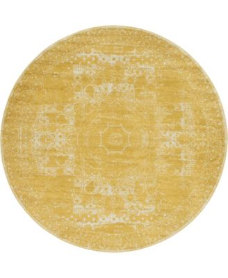 Mobley Mob2 Yellow 8' x 8' Round Area Rug