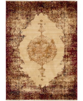 Thule Thu2 Red 4' x 6' Area Rug