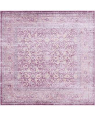 Anika Ani2 Violet 8' x 8' Square Area Rug