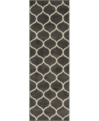 Plexity Plx2 Dark Gray 2' x 6' Runner Area Rug