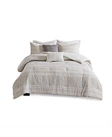 Urban Habitat Lizbeth Full/Queen 5 Piece Cotton Clip Jacquard Comforter Set