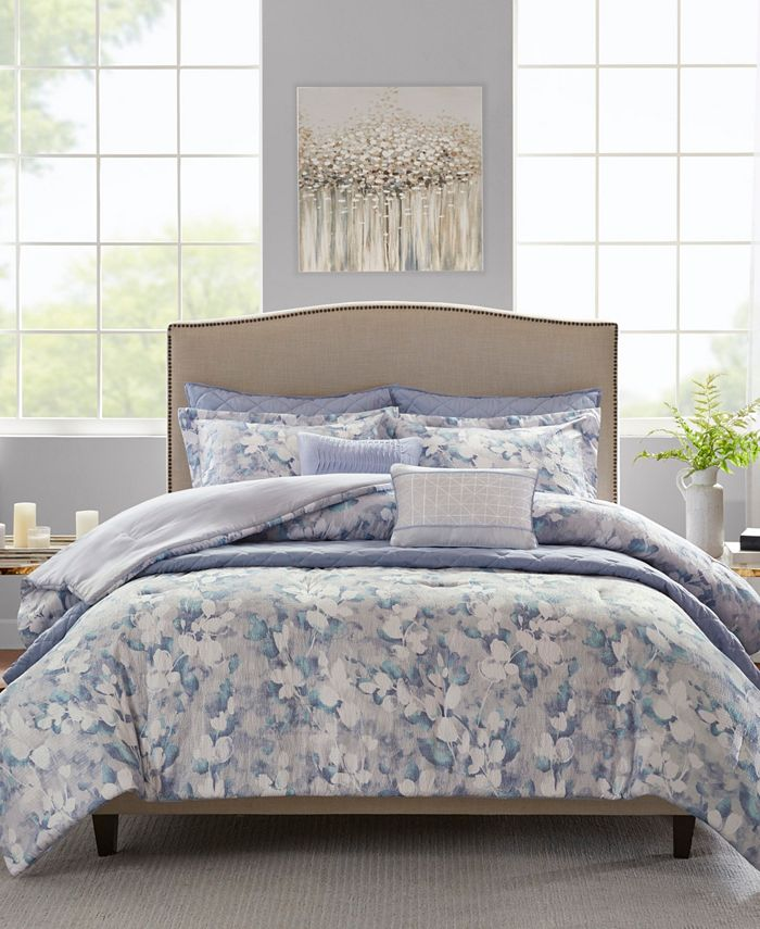 Madison Park - Madison Park Erica 8-Pc. Printed Seersucker Comforter and Coverlet Sets