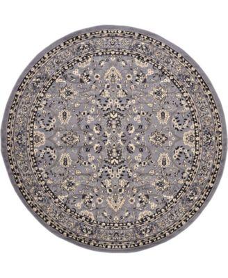 Arnav Arn1 Gray 8' x 8' Round Area Rug