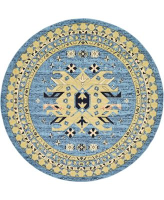 Charvi Chr1 Light Blue 8' x 8' Round Area Rug