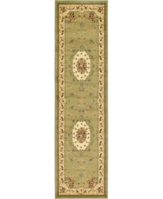 "Belvoir Blv4 Green 2' 7"" x 10' Runner Area Rug"