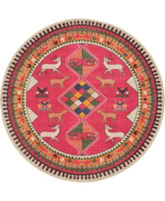 CLOSEOUT! Arcata Arc7 Pink 8' x 8' Round Area Rug