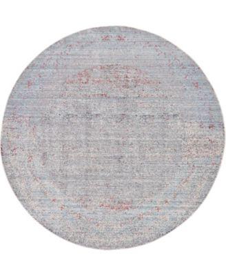 Malin Mal8 Gray 6' x 6' Round Area Rug