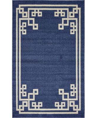Anzu Anz3 Navy Blue 5' x 8' Area Rug