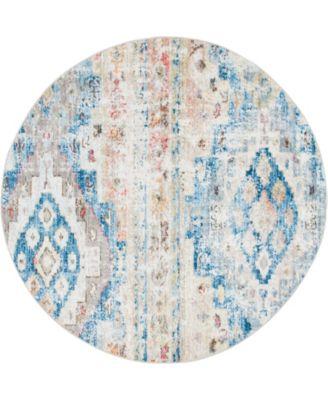 Nira Nir2 Blue/Beige 5' x 5' Round Area Rug