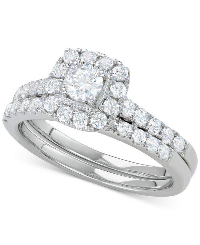 Macy's - Diamond Halo Bridal Set (1 ct. t.w.) in 14k Gold