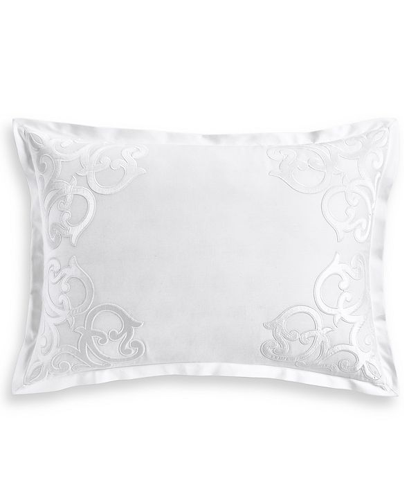 Hotel Collection Classic Scroll Appliqué Cotton King Sham, Created for Macy's