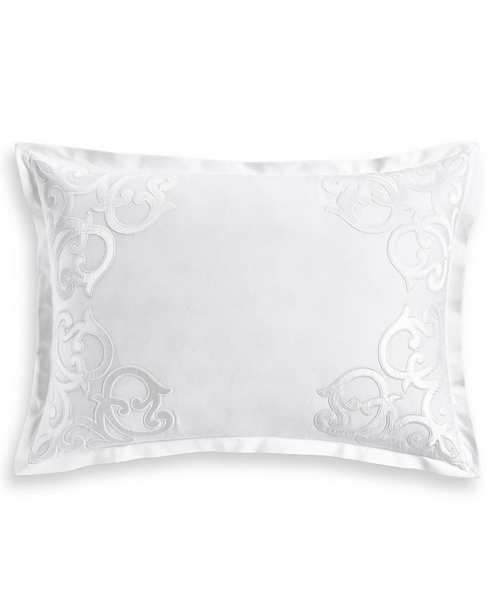 Hotel Collection - Classic Scroll Appliqué Cotton Standard Sham