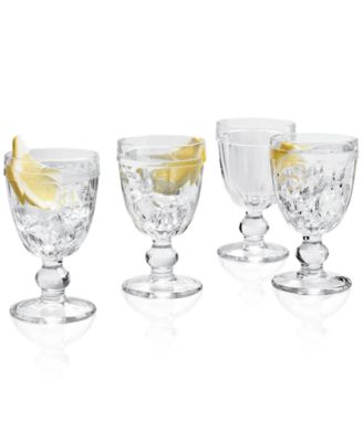 Clear Footed Goblets, Set of 4, Created for Macy's