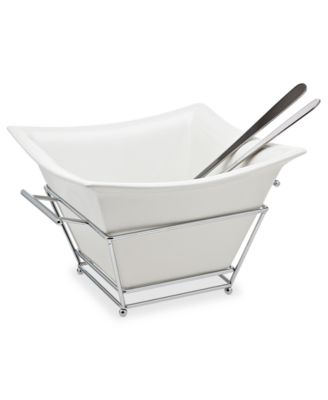 Godinger Serveware, Piazza Salad Bowl with Servers