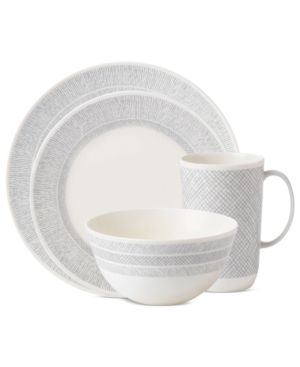 Vera Wang Wedgwood Dinnerware, Simplicity Cream 4 Piece Place Setting