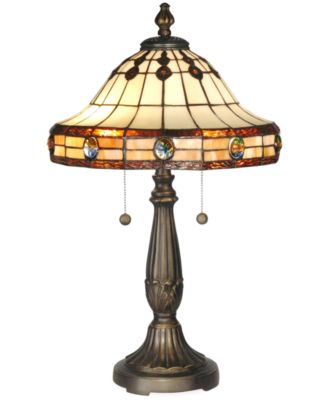 Dale Tiffany Jeweled Mission Table Lamp - Lighting & Lamps